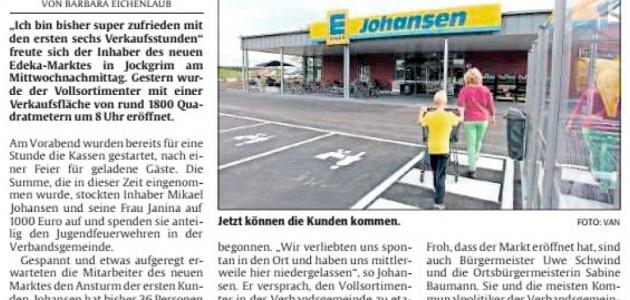 Die Rheinpfalz, 07_09_2017: EDEKA-Markt-Eröffnung in Jockgrim